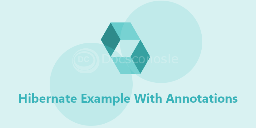 Hibernate Example With Annotations