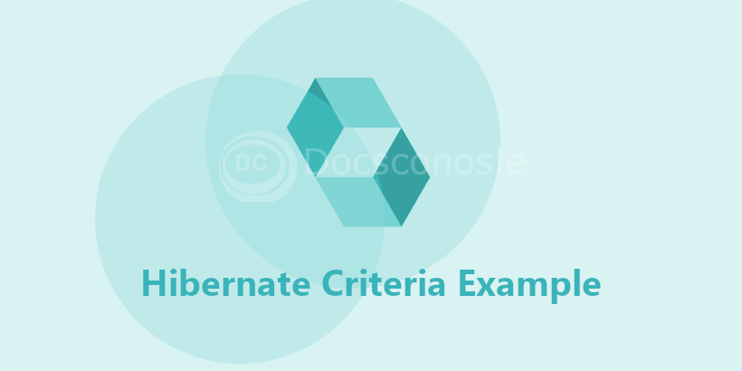Hibernate Criteria Example