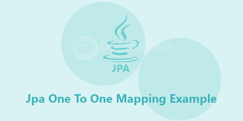 Jpa One To One Mapping Example