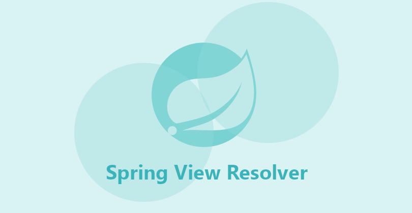Spring View Resolver