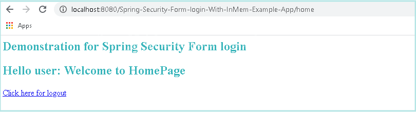 Spring Security Login Example