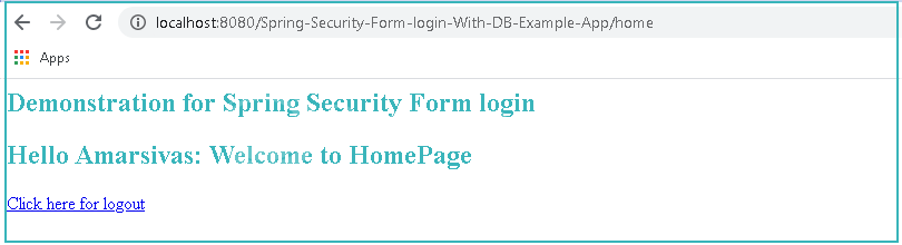 Spring Security Login Example With Database